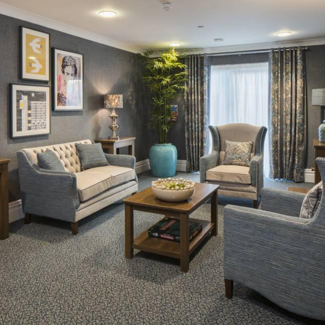 Care home interior design lounge at Falkland Grange Care Home